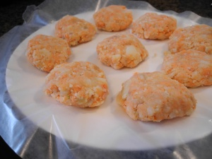 My picky kid photo of salmon cakes with mashed potatoes