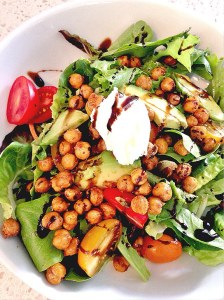 Roasted chickpeas in salad